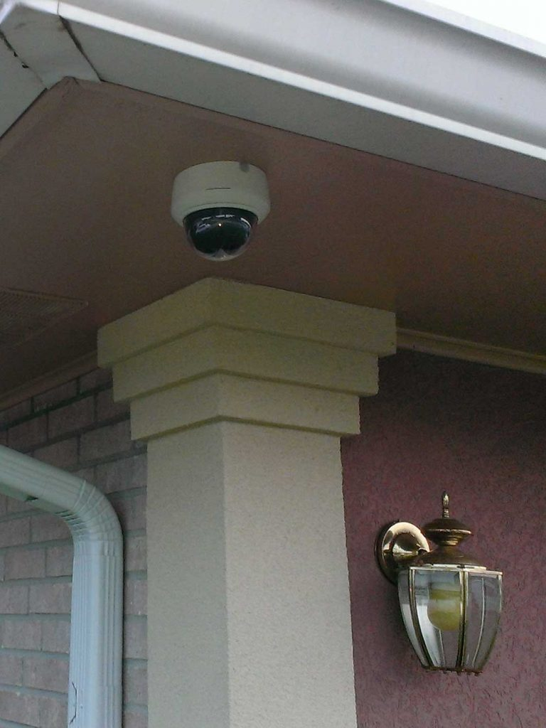 Security Camera on Front Porch